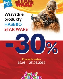 ŚWIAT ZABAWEK  Star Wars z Hasbro – 30%