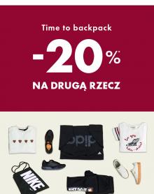 50 STYLE Time to backpack! -20% na drugą rzecz
