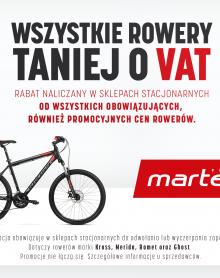 MARTES SPORT ROWERY taniej o VAT!