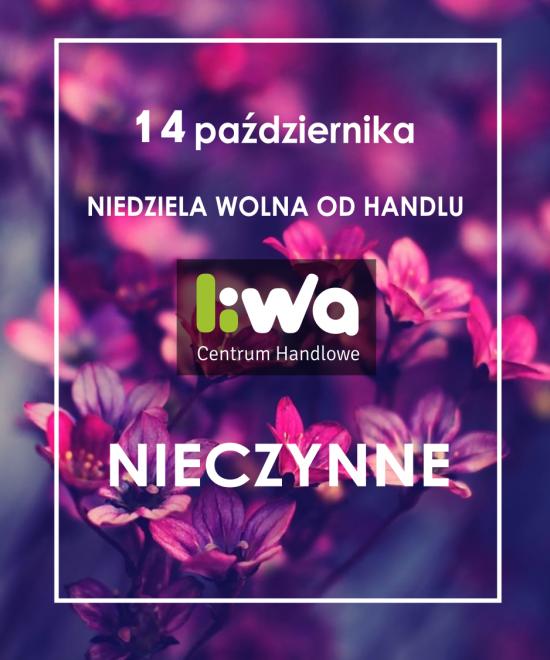 NIEDZIELA WOLNA OD HANDLU 14 października 2018 r.