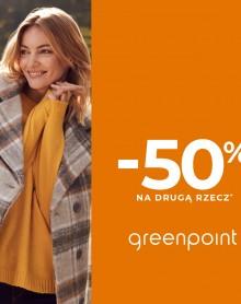 GREENPOINT -50% na drugą, tańszą rzecz!