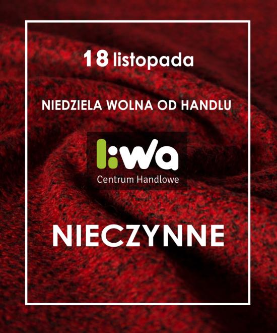 NIEDZIELA WOLNA OD HANDLU 18 LISTOPADA 2018 r.