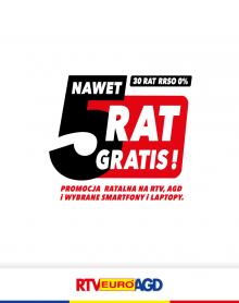 RTV EURO AGD 5 rat gratis!
