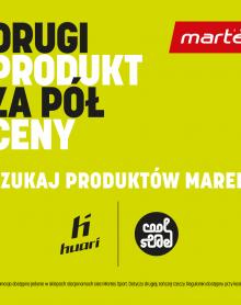 Martes Sport -50% na drugi produkt Huari i Coolslide