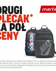 Martes Sport -50% na drugi plecak